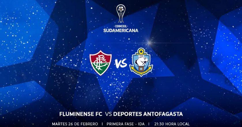 Fluminense x Antofagasta. Foto: Divulgação