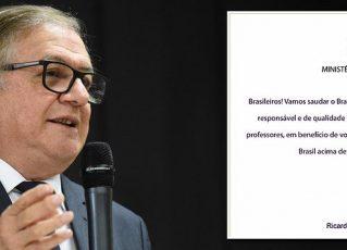 MEC pede a diretores de escolas que leiam carta com slogan de Bolsonaro a alunos. Foto: Reprodução de Internet