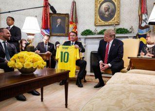 Jair Bolsonaro e Donald Trump. Foto: Isac Nóbrega/PR