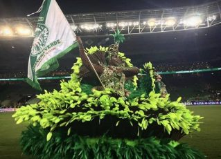 Mancha Verde faz desfile especial para celebrar título no Allianz Parque. Foto: Paolo Bianchi