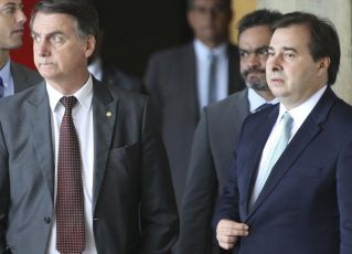 Jair Bolsonaro e Rodrigo Maia. Foto: Antonio Cruz/Agência Brasil