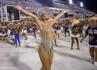 Musa do Paraíso do Tuiuti Lívia Andrade no ensaio técnico 2019. Foto: Justin Scott Parr