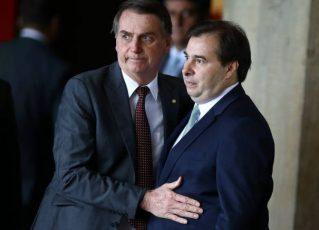 Bolsonaro e Rodrigo Maia. Foto: Antônio Cruz/Agência Brasil
