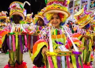 Desfile de escola de samba mirim. Foto: Divulgação