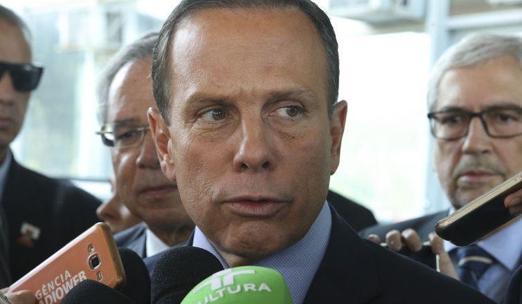 João Doria, durante entrevista coletiva. Foto: Valter Campanato/Agência Brasil
