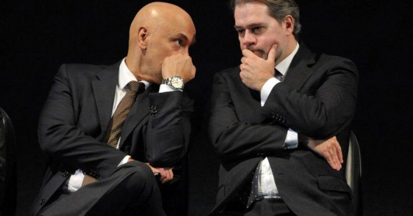 Alexandre Moraes e Dias Toffoli. Foto: Fabio Rodrigues Pozzebom/Agência Brasil