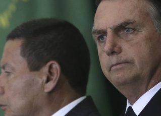 Hamilton Mourão e Jair Bolsonaro. Foto: Reprodução de TV