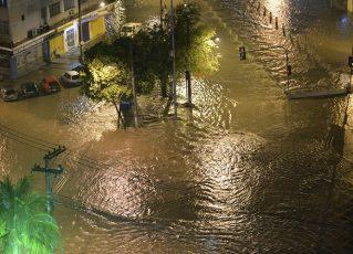 Alagamento no Rio. Foto: Reprodução de Internet