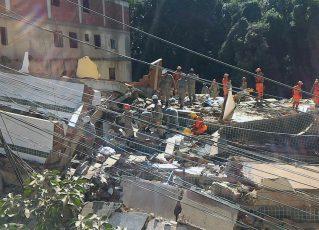Desabamento de prédios na comunidade da Muzema. Foto: Centro de operação da Prefeitura do RJ