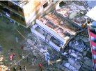 Desabamento de prédios na comunidade da Muzema. Foto: Divulgação