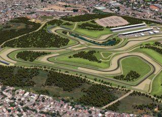 Imagem do projeto do novo autódromo do Rio. Foto: Divulgação