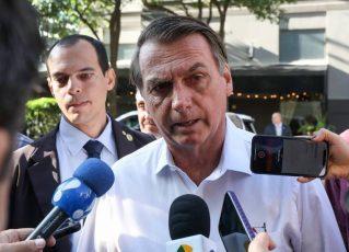 Bolsonaro em entrevista em Dallas. Foto: Marcos Corrêa/PR