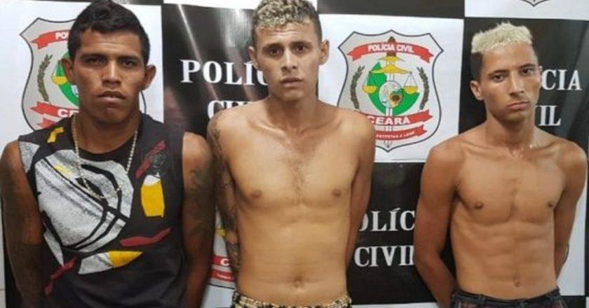 Três detidos trabalhavam interpretando super-heróis em Fortaleza. Foto: SSPDS/Divulgação
