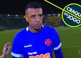O goleiro Sidão falhou na derrota do Vasco para o Santos. Foto: Reprodução de TV