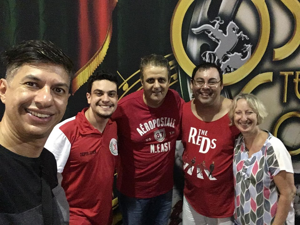Maggo e integrantes da X-9. Foto: Leandro Nascimento