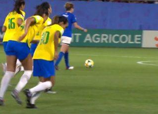 Copa do Mundo de futebol feminino. Foto: Reprodução de TV