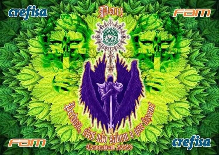 Logotipo do enredo da Mancha Verde 2020. Foto: Divulgação