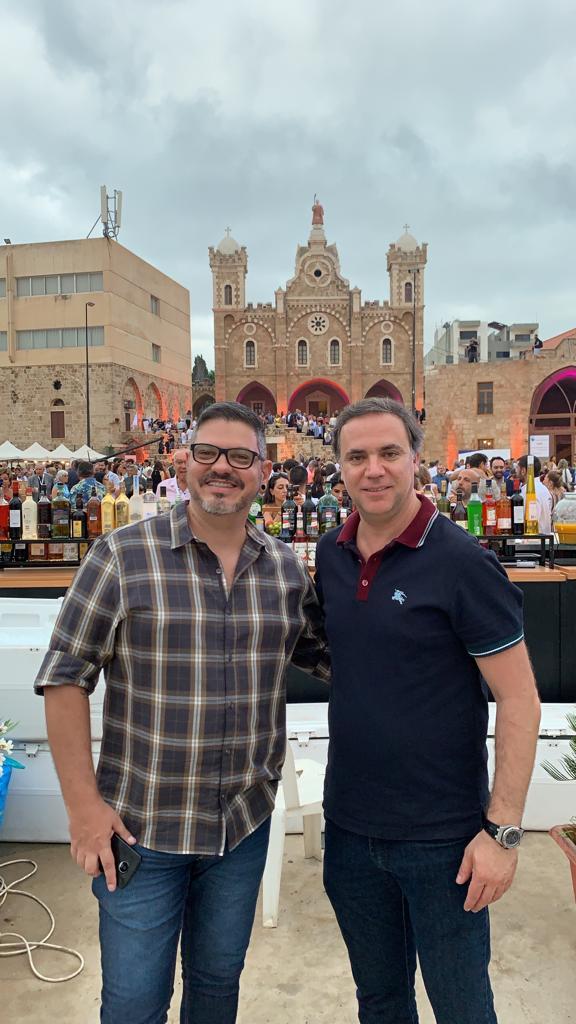 Flávio Campello e Miled Khoury/Cônsul Honorário do Líbano no Brasil. Foto: Divulgação