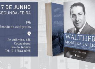 Luis Nassif lança livro sobre Walther Moreira Salles no Rio. Foto: Divulgação