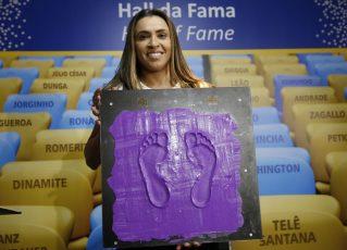 A jogadora de futebol Marta (Marta Vieira da Silva), atacante eleita melhor do mundo seis vezes pela Fifa. Foto: Fernando Frazão/Agência Brasil