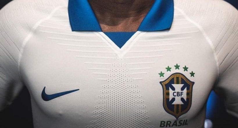 Camisa branca da seleção brasileira de futebol. Foto: Divulgação