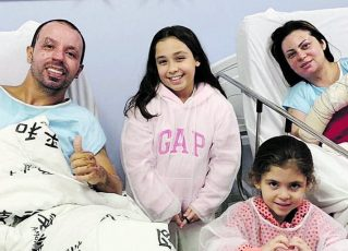Prefeito de Osasco Rogério Lins, primeira-dama Aline Lins e filhas. Foto: Reprodução de Internet