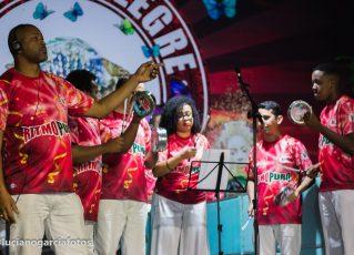 Mocidade Alegre grava 15 sambas concorrentes para o Carnaval 2020. Foto: Assessoria/Mocidade Alegre