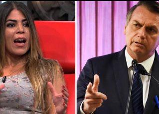 Bruna Surfistinha e Jair Bolsonaro. Foto: Reprodução de Internet