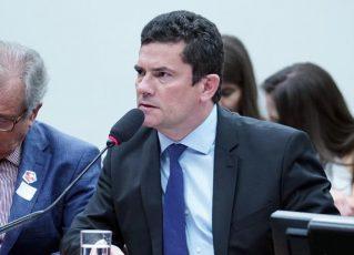Moro fala a deputados sobre mensagens vazadas por site. Foto: Reprodução