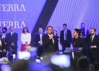 Jair Bolsonaro em evento da igreja Sara Nossa Terra. Foto: Antonio Cruz/Agência Brasil