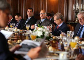 Governador Wilson Witzel com investidores na Argentina. Foto: Philippe Lima