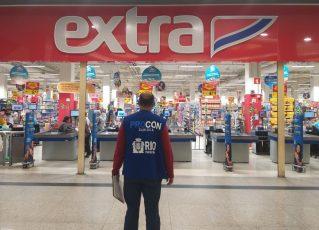 Procon Carioca notifica supermercado. Foto: Divulgação/Procon Carioca