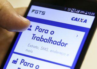 Aplicativo Caixa Econômica Federal - FGTS. Foto: Marcelo Camargo - Agência Brasil