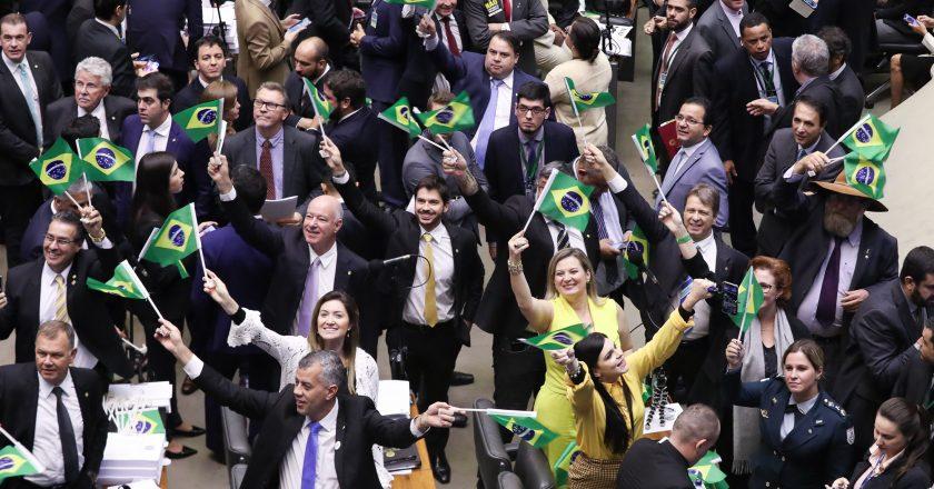 Sessão que aprovou a reforma da previdência. Foto: Lula Marques/Fotos Públicas