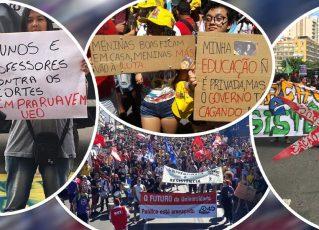 Manifestações de estudantes. Foto: UNE