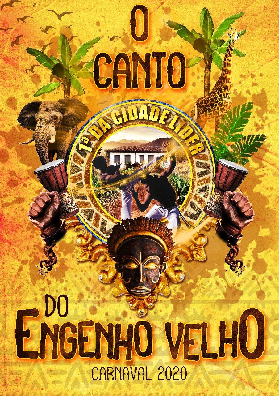 Logo do enredo da Primeira da Cidade Líder lança enredo para o Carnaval 2020. Foto: Divulgação