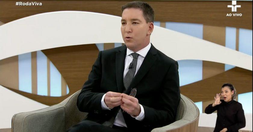Glenn Greenwald no Programa Roda Viva. Foto: Reprodução