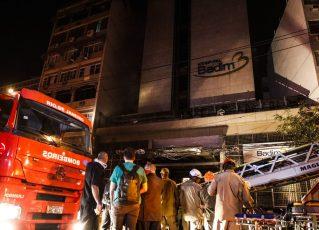 Incêndio atinge prédio do Hospital Badim. Foto: Fernando Frazão/Agência Brasil
