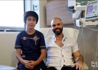 Bruno Covas e seu filho Tomás. Foto: Reprodução/Instagram