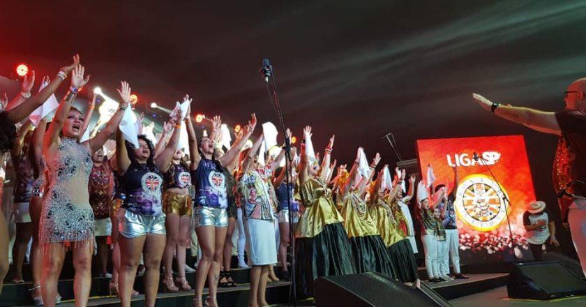 Independente Tricolor grava faixa para o CD do Carnaval de SP 2020. Foto: Divulgação/Independente Tricolor