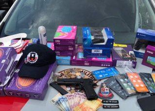 Produtos roubados. Foto: Divulgação/Polícia Militar