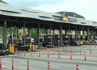 Pedágio na Linha Amarela, Zona Norte do Rio. Foto: Reprodução/TV Globo