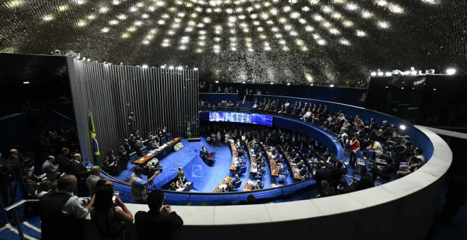 Sessão que aprovou nova Previdência durou 3 horas.Foto: Marcos Oliveira/Agência Senado