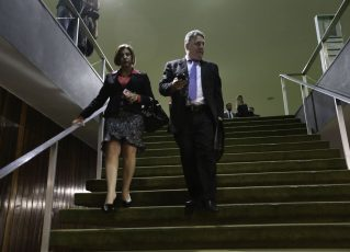 Anthony Garotinho, acompanhado de sua esposa, Rosinha. Foto: Fabio Rodrigues Pozzebom/Agência Brasil