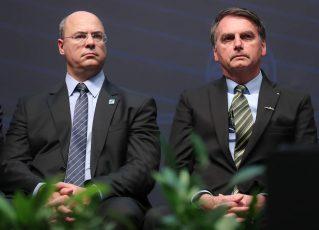 Witzel e Bolsonaro. Foto: Marcos Corrêa/PR