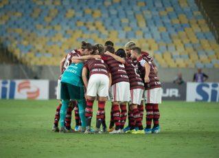 Jogadores do Flamengo. Foto: Alexandre Vidal/CRF