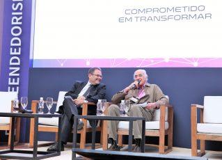 Sidney Rezende e Zuenir Ventura - Fórum Inovação Saúde/FIS19. Foto: Alessandro Mendes