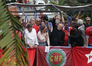 Lula no Sindicato do Metalurgicos do ABC. Foto: Paulo Pinto/FotosPublicas