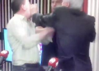 Augusto Nunes agride Glenn Greenwald. Foto: Reprodução
