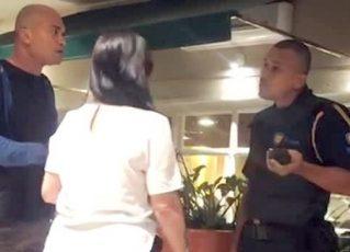 Lojista negro é impedido de sair de shopping no Rio. Foto: Reprodução de TV